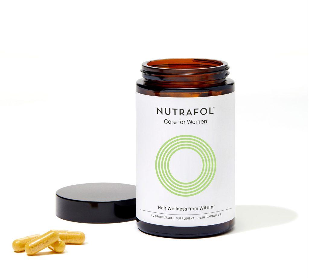 nutrafol core women vitamin bottle